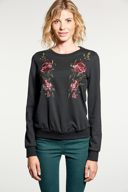 Sweatshirt Sweatshirt FLOW Woman W18501W (38578) - DEELUXE-SHOP