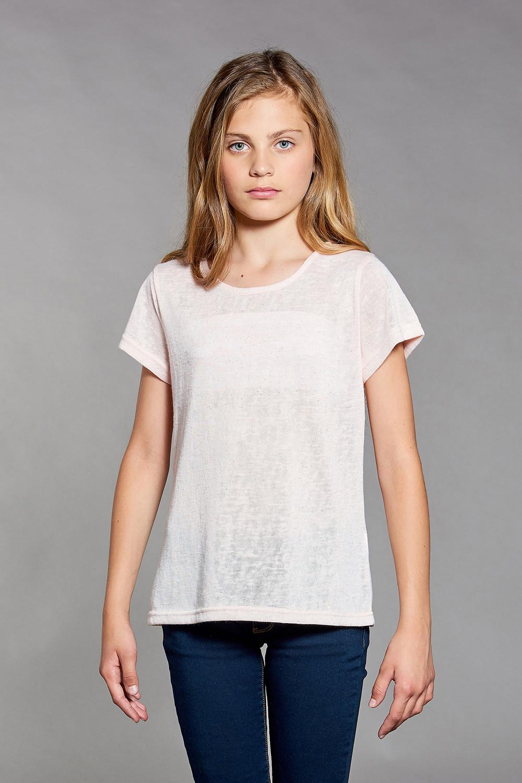 T-shirt T-SHIRT GLITTER Girl W18113G (39244) - DEELUXE-SHOP