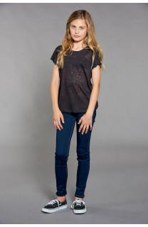 T-shirt T-SHIRT GLITTER Girl W18113G (39353) - DEELUXE-SHOP
