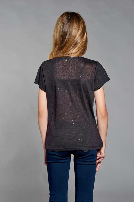 T-shirt GLITTER Girl W18113G (41423) - DEELUXE-SHOP