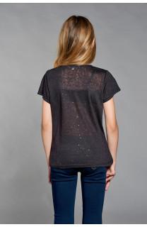 T-shirt T-SHIRT GLITTER Girl W18113G (39354) - DEELUXE-SHOP