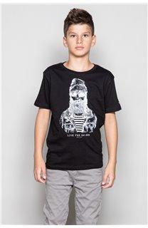 T-shirt T-shirt TELLIER Boy W18116B (39450) - DEELUXE-SHOP