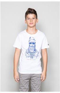 T-shirt T-shirt TELLIER Boy W18116B (39455) - DEELUXE-SHOP