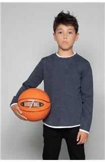 T-shirt T-SHIRT MOHANSON Boy W18119B (39468) - DEELUXE-SHOP