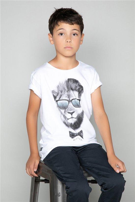 T-Shirt LIONMAN Garçon W18135B (39500) - DEELUXE