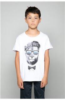 T-Shirt LIONMAN Garçon W18135B (39501) - DEELUXE