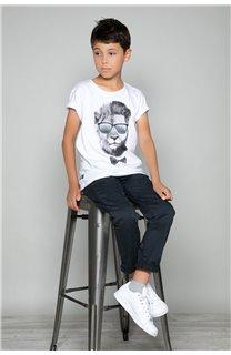 T-Shirt LIONMAN Garçon W18135B (39502) - DEELUXE