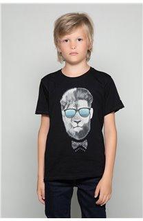 T-Shirt LIONMAN Garçon W18135B (39503) - DEELUXE