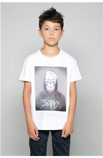 T-Shirt JUST Garçon W18143B (39512) - DEELUXE