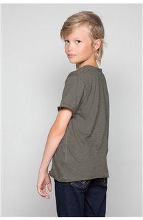 T-Shirt FLAGY Garçon W18160B (39537) - DEELUXE