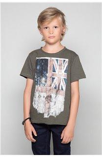 T-Shirt FLAGY Garçon W18160B (39538) - DEELUXE