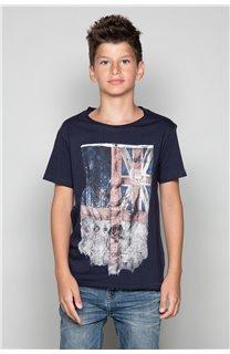 T-shirt T-SHIRT FLAGY Boy W18160B (39542) - DEELUXE-SHOP