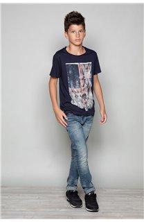 T-shirt T-SHIRT FLAGY Boy W18160B (39544) - DEELUXE-SHOP