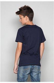 T-shirt T-SHIRT FLAGY Boy W18160B (39545) - DEELUXE-SHOP