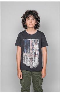 T-Shirt FLAGY Garçon W18160B (39546) - DEELUXE