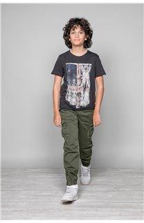 T-shirt T-SHIRT FLAGY Boy W18160B (39549) - DEELUXE-SHOP