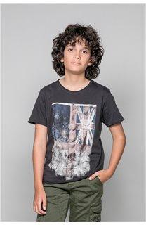 T-shirt T-SHIRT FLAGY Boy W18160B (39550) - DEELUXE-SHOP