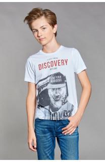 T-shirt T-shirt DISCOVERY Boy W18192B (39640) - DEELUXE-SHOP