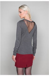 Sweater SWEATER LACY Woman W18316W (40615) - DEELUXE-SHOP