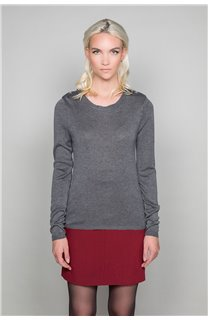 Sweater SWEATER LACY Woman W18316W (40618) - DEELUXE-SHOP