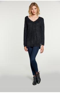 Sweater PILE Woman W18310W (40620) - DEELUXE-SHOP