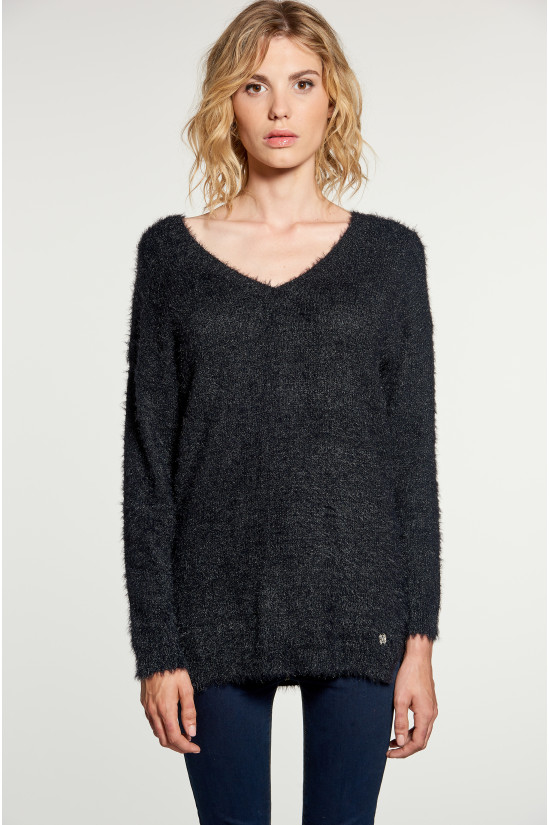 Sweater PILE Woman W18310W (40621) - DEELUXE-SHOP
