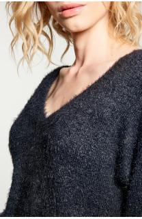 Sweater PILE Woman W18310W (40623) - DEELUXE-SHOP