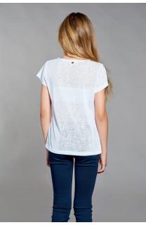 T-shirt T-SHIRT GLITTER Girl W18113G (40626) - DEELUXE-SHOP