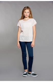 T-shirt T-SHIRT GLITTER Girl W18113G (40627) - DEELUXE-SHOP