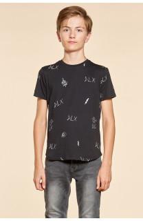 T-shirt T-shirt DEVIL Boy W18150B (40651) - DEELUXE-SHOP
