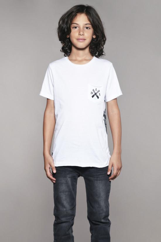 T-Shirt SKULLFLOWER Garçon W18165B (41066) - DEELUXE