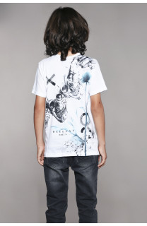 T-shirt T-shirt SKULLFLOWER Boy W18165B (41072) - DEELUXE-SHOP