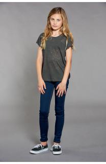 T-shirt T-SHIRT GLITTER Girl W18113G (41362) - DEELUXE-SHOP