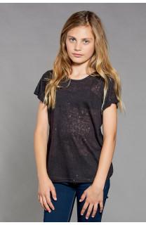 T-shirt T-SHIRT GLITTER Girl W18113G (41423) - DEELUXE-SHOP