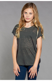 T-shirt T-SHIRT GLITTER Girl W18113G (41424) - DEELUXE-SHOP