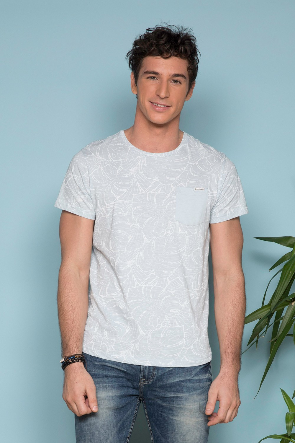 T-Shirt MONSTERA Homme S19135 (41981) - DEELUXE