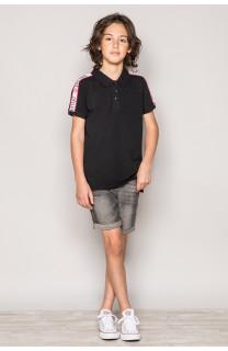 Polo shirt TUPAC Boy S19217B (43345) - DEELUXE-SHOP