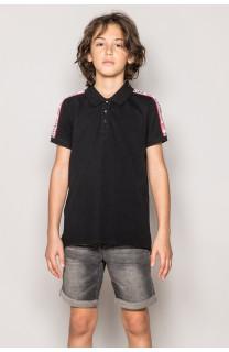 Polo shirt TUPAC Boy S19217B (43346) - DEELUXE-SHOP