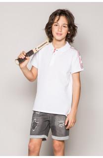 Polo shirt TUPAC Boy S19217B (43349) - DEELUXE-SHOP