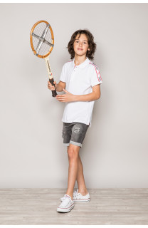 Polo shirt TUPAC Boy S19217B (43350) - DEELUXE-SHOP