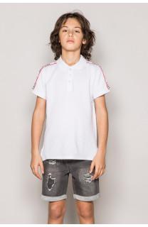 Polo shirt TUPAC Boy S19217B (43351) - DEELUXE-SHOP