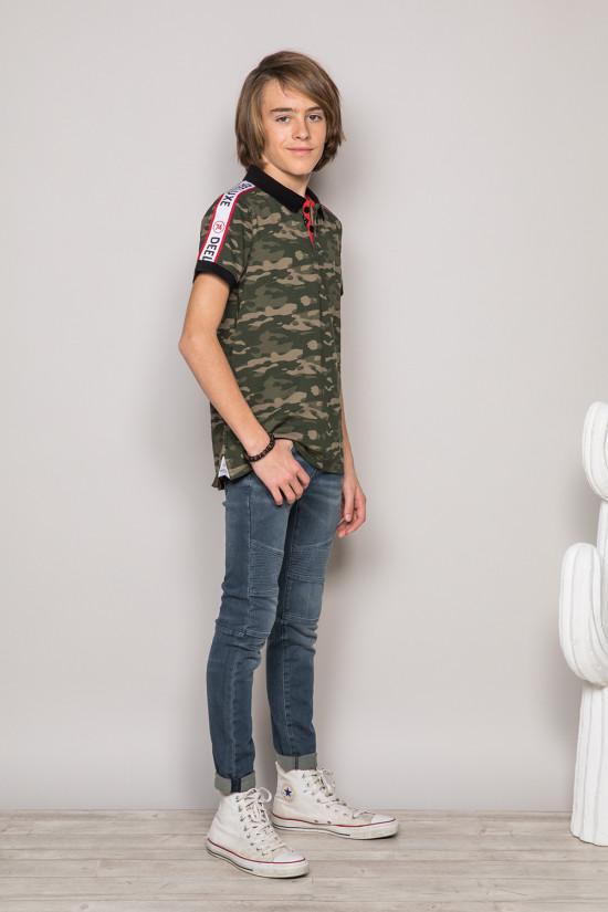 Polo shirt TUPAC Boy S19217B (43354) - DEELUXE-SHOP