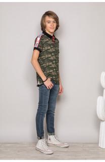 Polo shirt TUPAC Boy S19217B (43355) - DEELUXE-SHOP