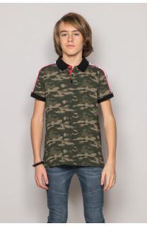 Polo shirt TUPAC Boy S19217B (43356) - DEELUXE-SHOP