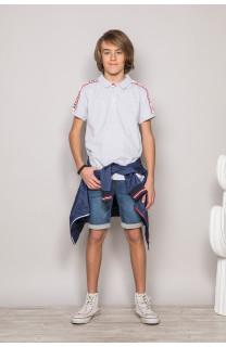 Polo shirt TUPAC Boy S19217B (43360) - DEELUXE-SHOP
