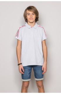 Polo shirt TUPAC Boy S19217B (43361) - DEELUXE-SHOP
