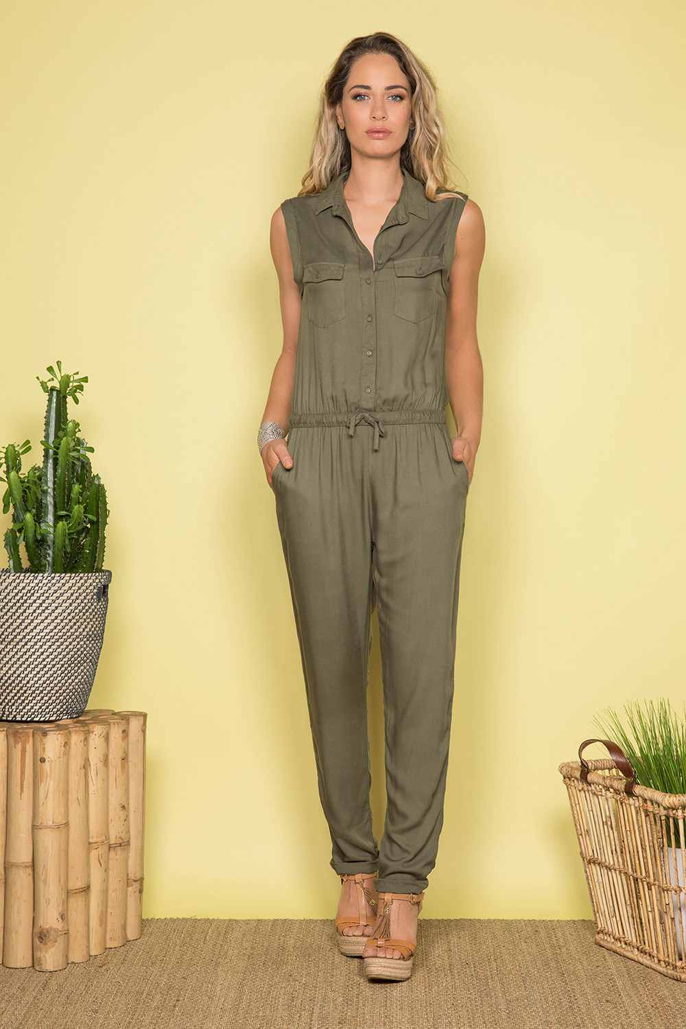 Jumpsuit SAVINA Woman S19755W (44002) - DEELUXE-SHOP