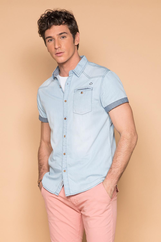 Shirt Shirt SLIMASON Man S19425 (44555) - DEELUXE-SHOP