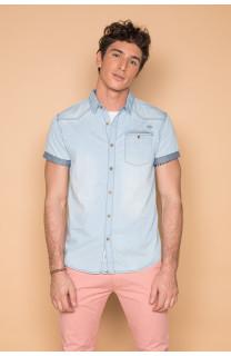 Shirt Shirt SLIMASON Man S19425 (44557) - DEELUXE-SHOP