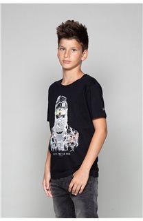 T-shirt T-shirt TELLIER Boy W19156B (46281) - DEELUXE-SHOP
